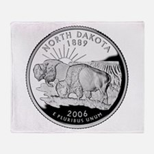 North Dakota Quarter Throw Blanket