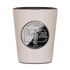 Pennsylvania Quarter Shot Glass