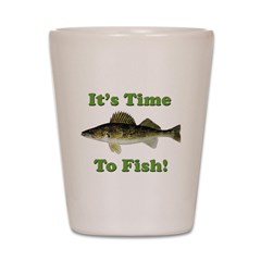 It's Time to Fish Shot Glass