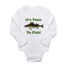 It's Time to Fish Long Sleeve Infant Bodysuit