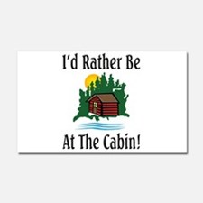 At The Cabin Car Magnet 20 x 12