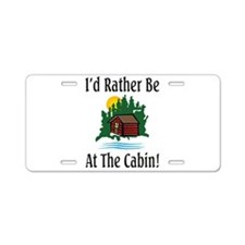At The Cabin Aluminum License Plate
