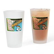 Cute Minnesota Drinking Glass