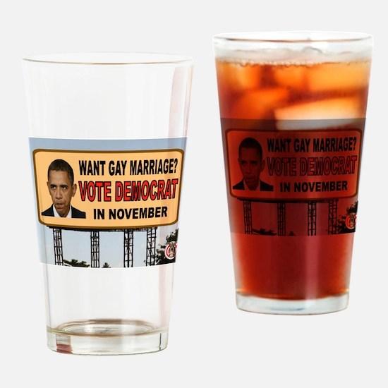 OBAMA GOALS Drinking Glass