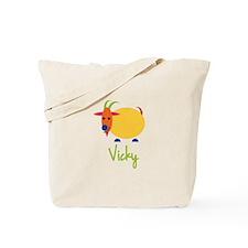 Vicky The Capricorn Goat Tote Bag
