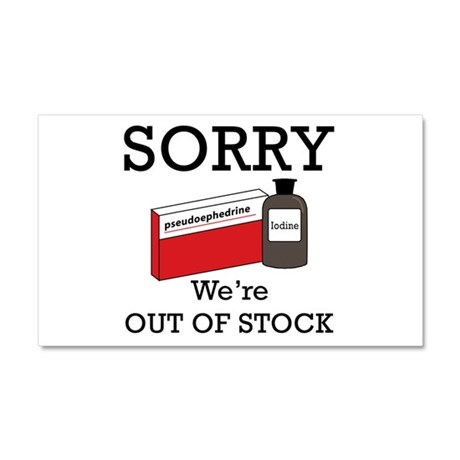 Pharmacy - Out Of Stock Car Magnet 20 x 12