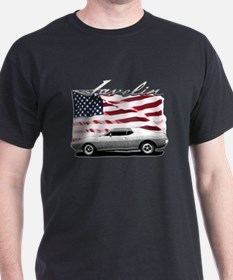AMC AMX Javelin on USA flag T-Shirt