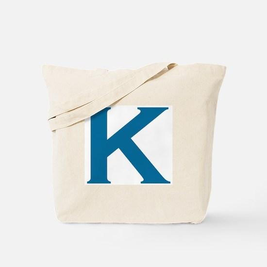 The Letter K Tote Bag
