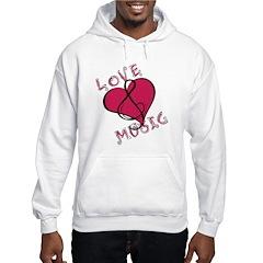 Love music heart Hoodie
