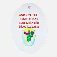 beauticians Ornament (Oval)