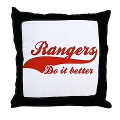 Rangers Do It Better Throw Pillow