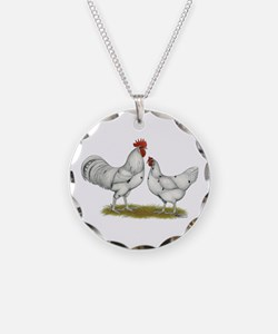 Austra White Chickens Necklace