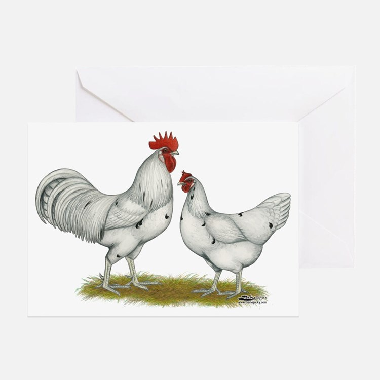 Austra White Chickens Greeting Card