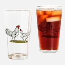 Austra White Chickens Drinking Glass
