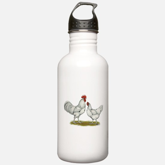 Austra White Chickens Water Bottle