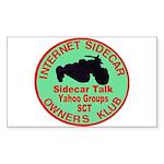 Red / Green Logo Rectangle Sticker