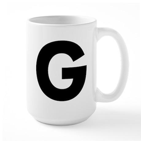 Letter G Large Mug