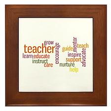 Cute Teachers inspire Framed Tile