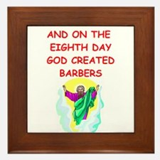 barbers Framed Tile