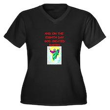 bakers Women's Plus Size V-Neck Dark T-Shirt