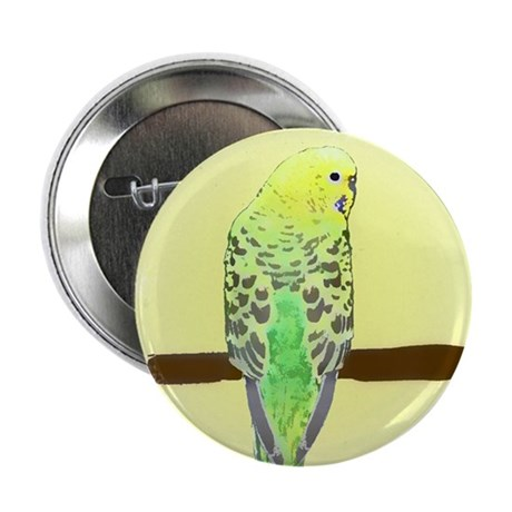 Yellow Budgie Button