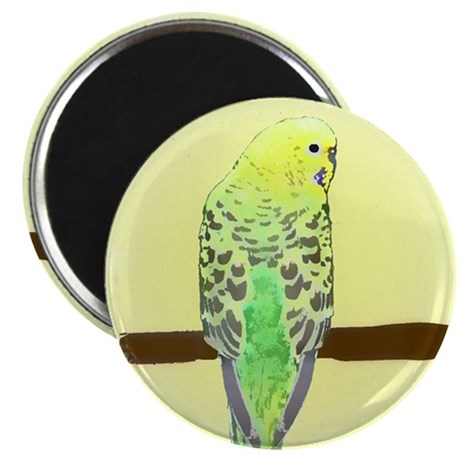 Yellow Budgie Magnet