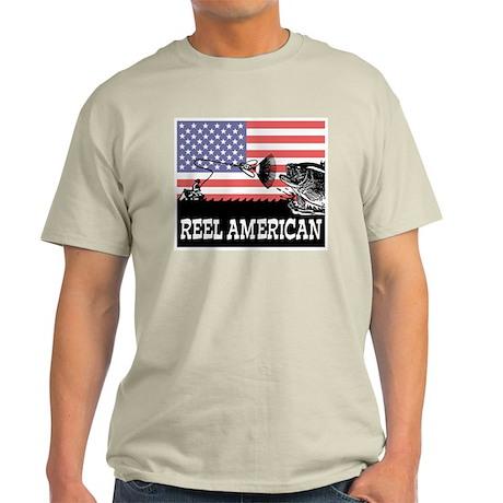Reel American Fishing Ash Grey T-Shirt