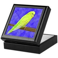 Male Yellow Budgie Keepsake Box