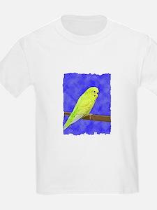 Male Yellow Budgie Kids T-Shirt