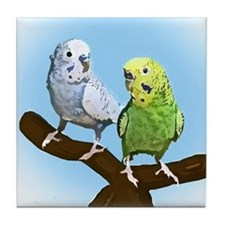 Budgie Pair Tile Coaster