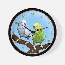 Budgie Pair Wall Clock