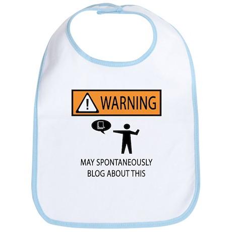 Warning Blogger Bib