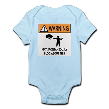Warning Blogger Infant Bodysuit