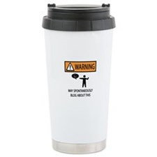 Warning Blogger Travel Mug