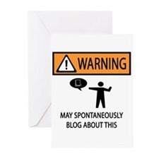 Warning Blogger Greeting Cards (Pk of 20)