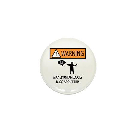 Warning Blogger Mini Button (10 pack)