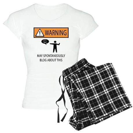 Warning Blogger Women's Light Pajamas