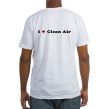 """I Heart Clean Air"" Fitted T-shirt"