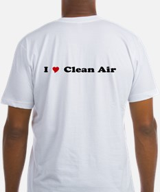 """""""I Heart Clean Air"""" Fitted T-shirt"""