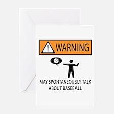 Warning Talks Baseball Greeting Card