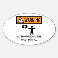 Warning Talks Baseball Decal