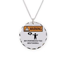 Warning Talks Baseball Necklace