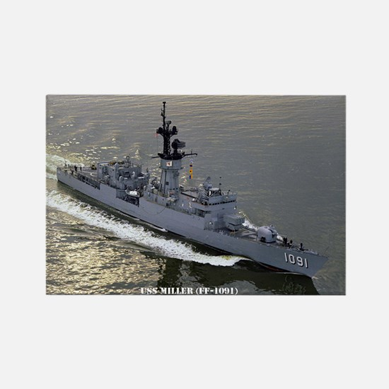 USS MILLER Rectangle Magnet