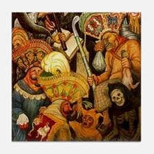 Diego Rivera Carnival Art Tile Coaster Part 2 of 2