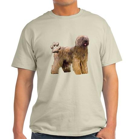 briard and Paw print Light T-Shirt