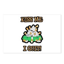 Kiss Me I Quit Smoking Postcards (Package of 8)