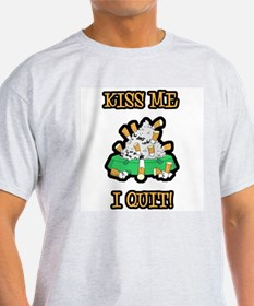 Kiss Me I Quit Smoking Ash Grey T-Shirt