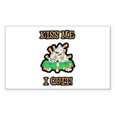 Kiss Me I Quit Smoking Rectangle Decal