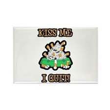 Kiss Me I Quit Smoking Rectangle Magnet