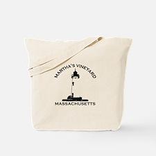 Martha's Vineyard MA - Lighthouse Design. Tote Bag